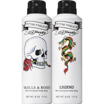 Ed Hardy for Men Deodorant Body Spray Gift Set, 6 oz, 2 count