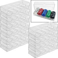 Trademark Commerce Trademark Poker Clear Acrylic Chip Trays & Covers set of 10