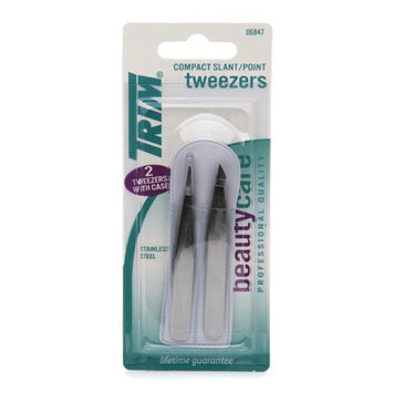 Trim Beauty Care Duo Compact Slant/Point Tweezers