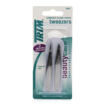 Trim Beauty Care Duo Compact Slant/Point Tweezers