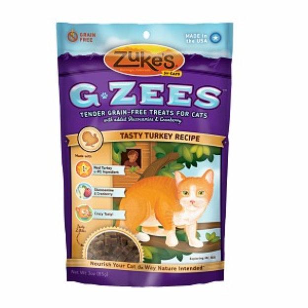 Slide: Zuke's G-Zees for Cats Tasty Turkey