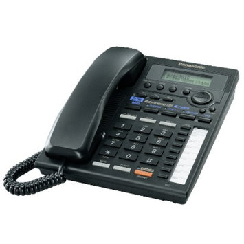 Panasonic KX-TS3282B 2-Line Speaker Phone with Intercom - Black