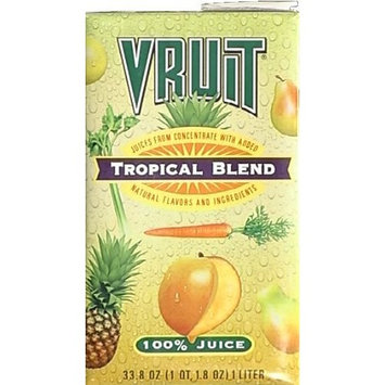 Vruit Tropical Blend Juice, 32-Ounce (Pack of 12)