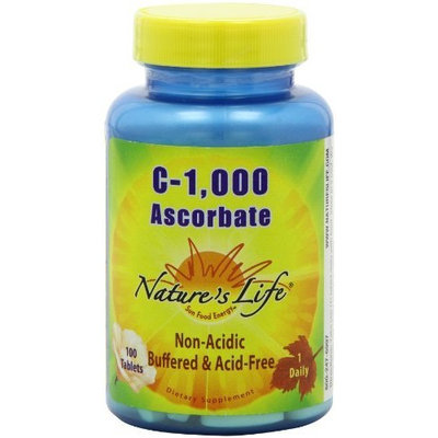 Nature's Life C Ascorbate Tablets, 1000 Mg, 100 Count