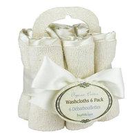 Bumkins OrganicWashcloth 6- Pack, Natural