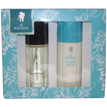 Je Reviens By Worth For Women. Set-edt Spray 3.4-Ounce & Body Lotion 6.7-Ounce