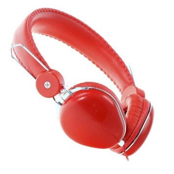 Moki ACCHPVLR Volume Limited Over-the-Ear Headphones - Red (4MOK00475)