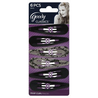 Goody Products Inc. Classics Medium Cheetah Contour Clip, 6 CT