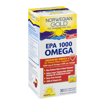 Norwegian Gold EPA 1000 Omega Softgels Orange - 30 CT