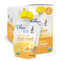 Plum Organics Tots Fruit and Grain Mish Mash, Banana, Rice and Quinoa, 3.17-Ounce Pouches (Pack of 12)