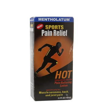 Mentholatum Sports Pain Relief Hot Pain Relieving Lotion, 3.3 fl oz