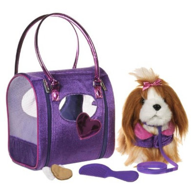 Branford Pucci Pups Diamond Diva Deluxe Bag and Brown Shih Tzu Pup