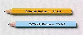 Broadman & Holman Broadman Holman 465254 Pencil Pew O Worship The Lord Assorted