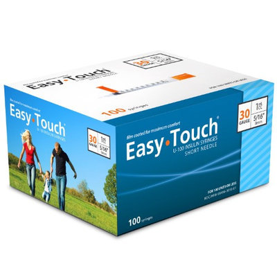 Masters Healthcare Easy Touch Insulin Syringes 30 Gauge 1cc 5/16 in - 10 ea.