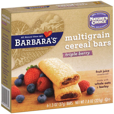 Nature's Choice Multigrain Triple Berry Cereal Bars, 6ct