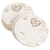 Hortense B. Hewitt Rustic Wood Grain Coasters