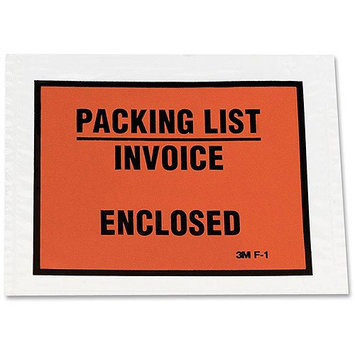 3m Envelope, Full Print, Packing List/Invoice Enclosed, Clear (MMMF1100)