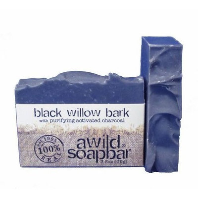 A Wild Soap Bar Organic Soap, Black Willow Bark, 3.5 Ounce