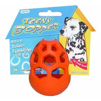 JW Pet Company Teeny Bopper Treat Dispensing Dog Toy, Small (Colors Vary)