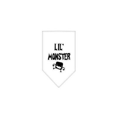 Ahi Lil Monster Screen Print Bandana White Small