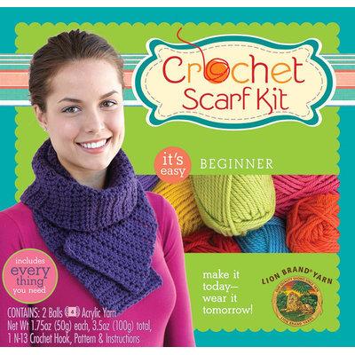 Lion Brand Yarn Company Lion Brand 75676 Beginner Crochet Scarf Kit-Purple