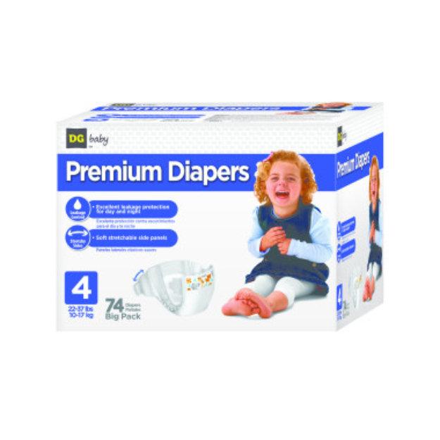 DG Baby  Diapers - Size 4  - 74ct