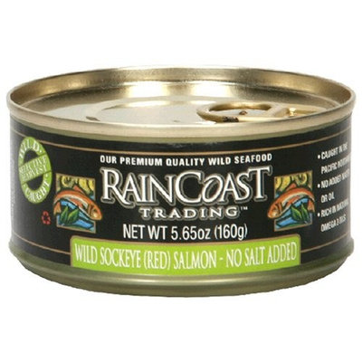 Rain Coast Raincoast Trading Company Sockeye Salmon, No Salt Added, 5.65-Ounce Can (Pack of 3)