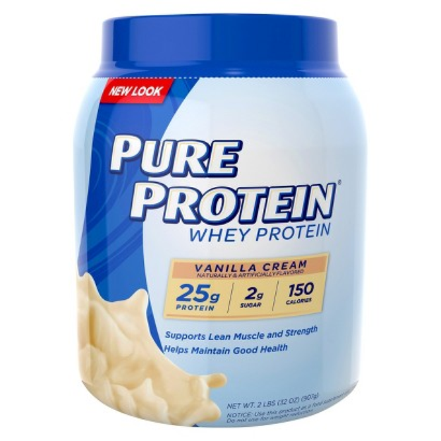Pure Protein Vanilla Cream Whey Protein Powder - 2 lbs.