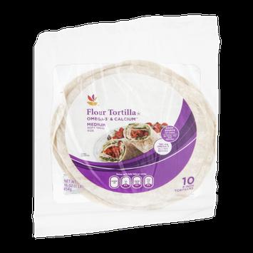 Ahold Flour Tortillas Omega-3 & Calcium Medium - 10 CT