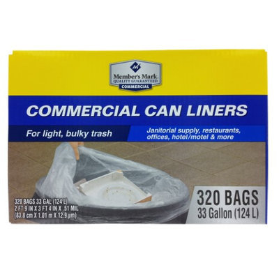 Member's Mark Commercial Can Liners - 33 gal - 320 ct.