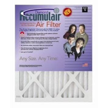 13x21x1 (Actual Size) Accumulair Diamond 1-Inch Filter (MERV 13) (4 Pack)