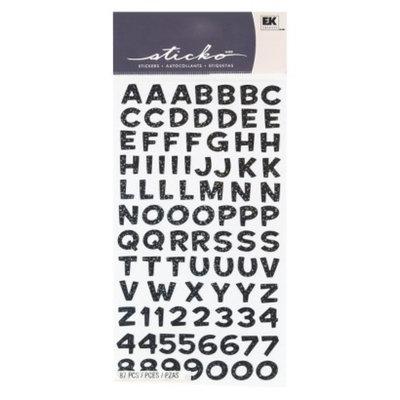 EK Success Sticko Metallic Funhouse Alphabet Stickers