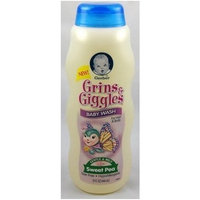 Gerber Grins & Giggles Baby Wash for Hair & Body, Sweet Pea, 15 Fl Oz (444 Ml)