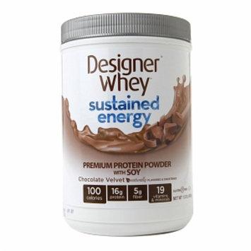 Designer Whey Sustained Energy Chocolate Velvet - 1.5 lbs