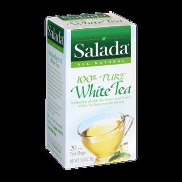 Salada All Nautral 100% Pure White Tea Bags- 20 CT