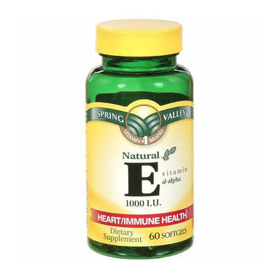 Spring Valley Natural E Vitamin D-Alpha Dietary Supplement 60 ct