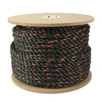 Rope: Crown Bolt Rope 3/4 in. x 250 ft. Truck Rope, Black/Orange Multi 65120
