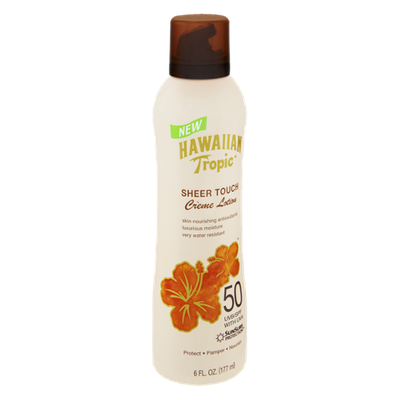 Hawaiian Tropic Sheer Touch SPF UVB 50 Creme Lotion