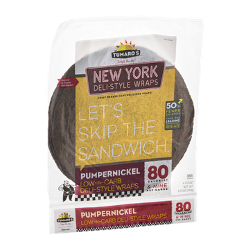 Tumaro's Wraps New York Deli-Style Pumpernickel - 4 CT