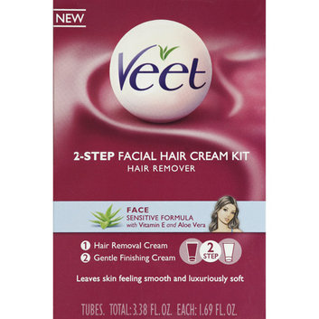 Veet 2-Step Facial Hair Cream Kit