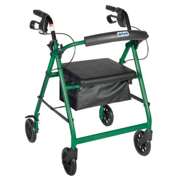 Drive Medical 4 Wheel Rollator w/ Fold Up and Removable Back Support