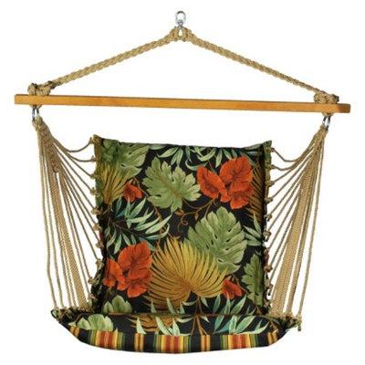 Algoma Net Company Soft Comfort Patio Hanging Chair - Brown/Green/Orange Tropical