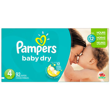 Babies R Us Pampers Diapers baby Dry Size 4 Super 92 count