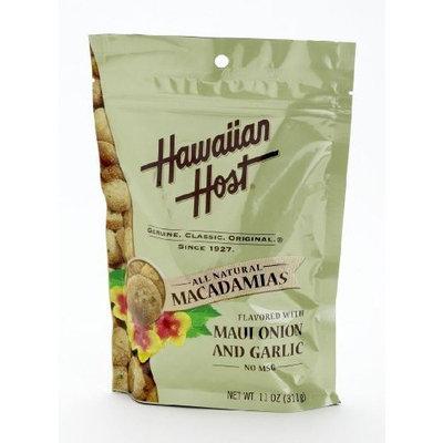 Hawaiian Host MACADAMIA NUTS - Maui Onion and Garlic Flavored, LARGE 11 oz (Resealable Bag)