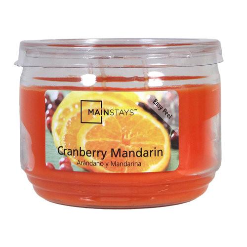 Mainstays 11.5 oz Jar Candle Cranberry Mandarin, Orange