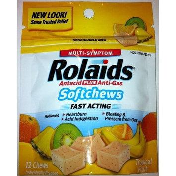 Rolaids Extra Strength, Resealable Bag, 12 Softchews - Tropical Fruit
