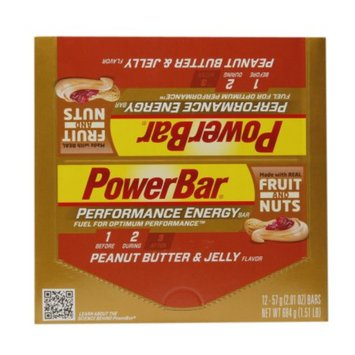 PowerBar Performance Energy Bars Fruit and Nuts Peanut Butter and Jelly