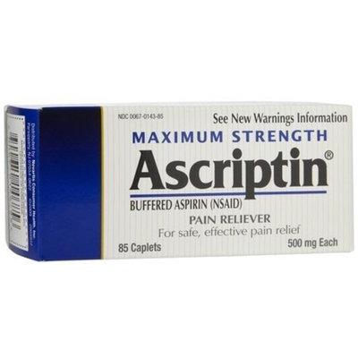 Ascriptin Maximum Strength Pain Reliever-85 ct.