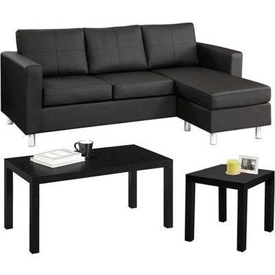Small Spaces Muebles Para La Sala - Muebles Para El Hogar Y Muebles Pequeños - Un Sofa Grande, Una Mesa Mediana Y Una Mesa Pequeña