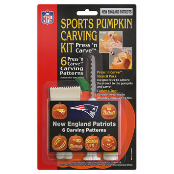 Topper 109870 New England Patriots NFL Sports Pumpkin - Carving Kit